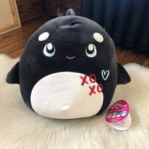 """RARE Squishmallow Kai The Whale 12"""" XO Black Plush"""